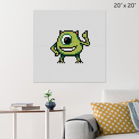 Mike Wazowski Monsters Inc Brick Poster