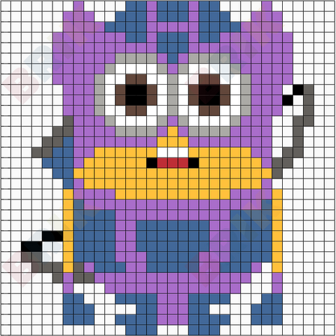 Minion Hawkeye Pixel Art
