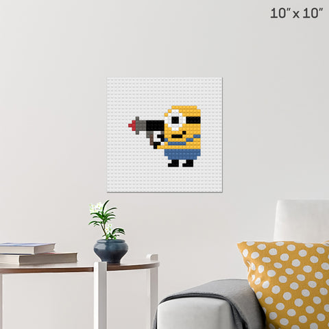 Minion Rocket Brick Poster