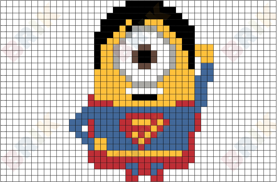 Superman Symbol Pixel Art