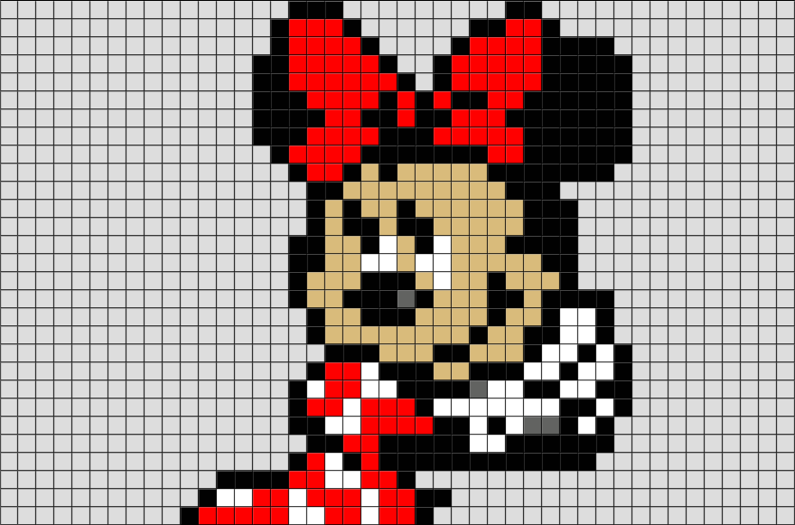 Pixel Art Minnie
