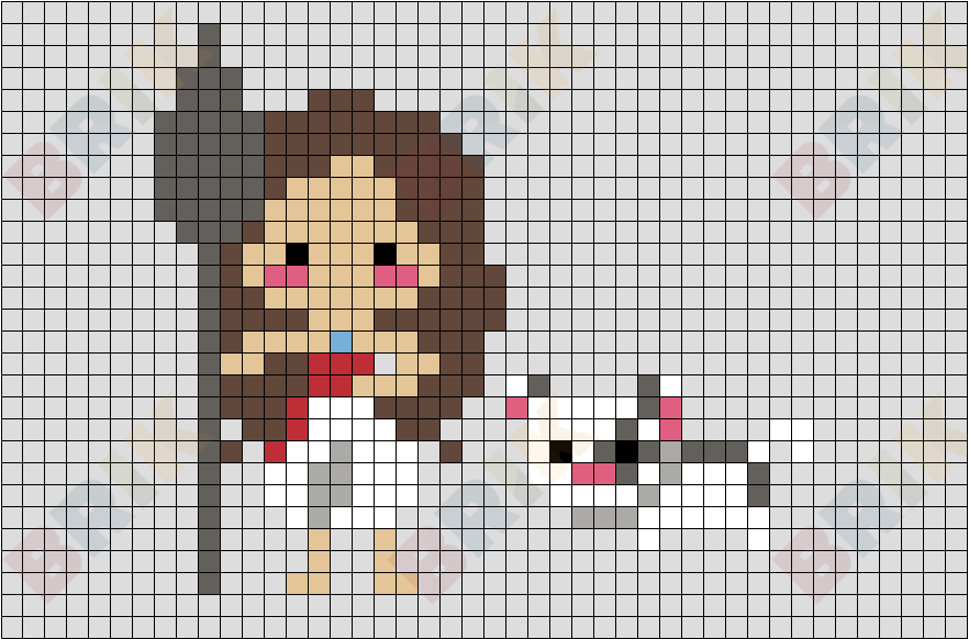 Moana And Pua Pixel Art Brik