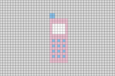 Mobile Phone Pixel Art