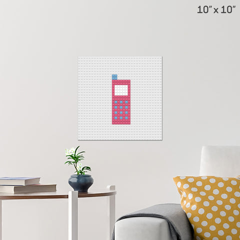 Mobile Phone Brick Poster