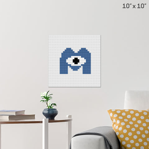 Monsters Inc Brick Poster