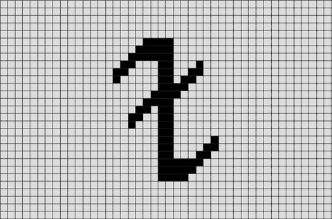 Mortal Instruments Block Rune Pixel Art