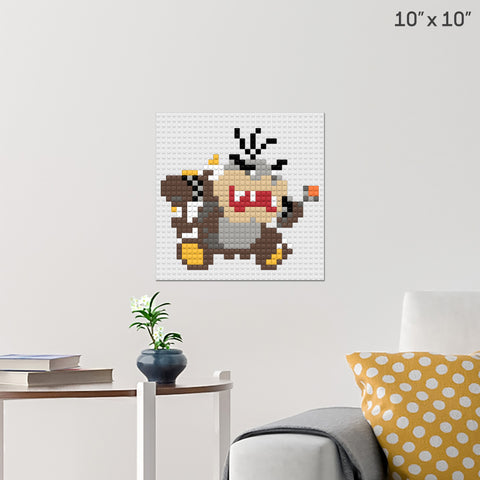 Morton Koopa Jr. Brick Poster