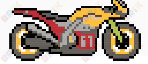 Motorcycle Pixel Art