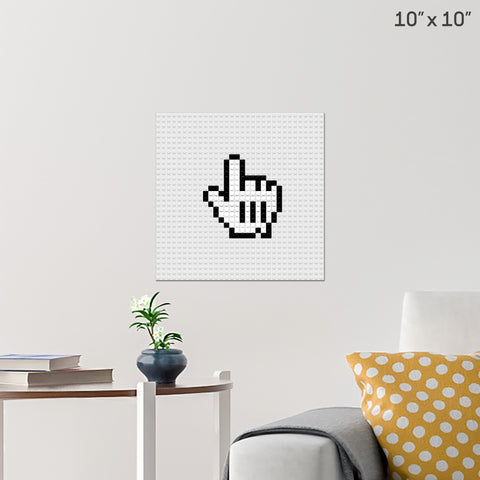 Mouse Pointer Brick Poster