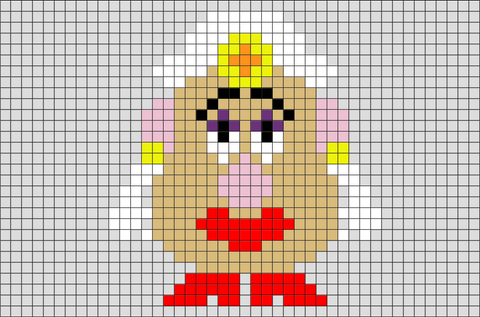 Mrs Potato Pixel Art