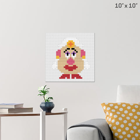 Mrs Potato Brick Poster