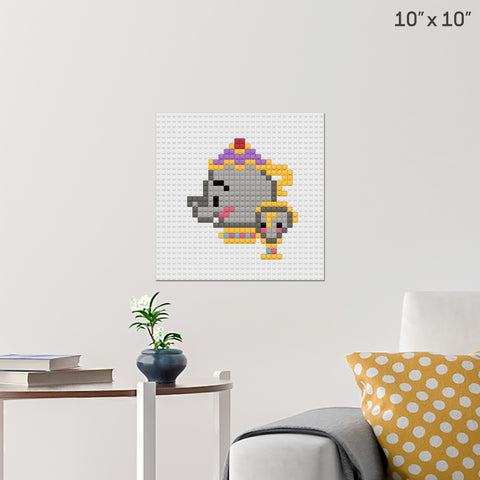 Mrs Potts Brick Poster