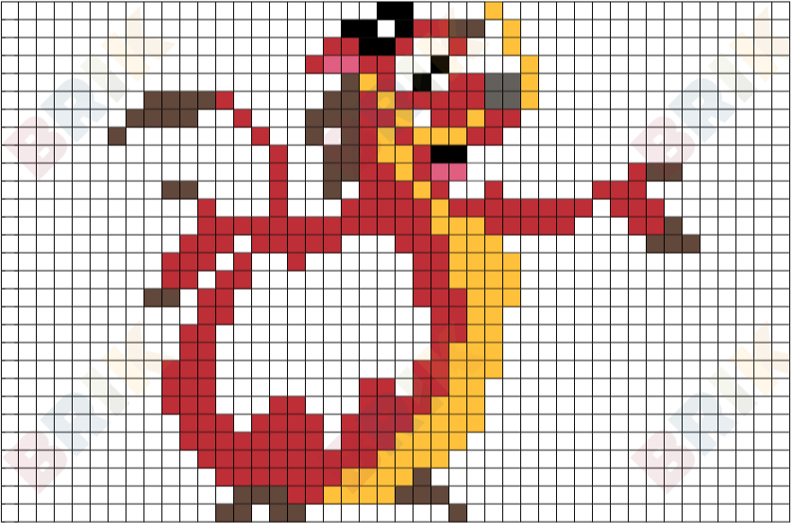 Easy Pixel Art Grid Disney: Brik Pixel Art On Twitter New