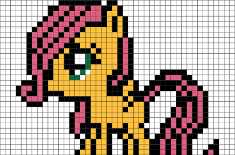 My Little Pony Fluttershy Pixel Art