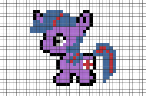 My Little Pony Twilight Sparkle Pixel Art