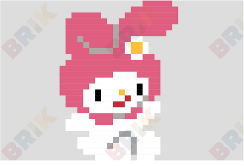 My Melody Pixel Art