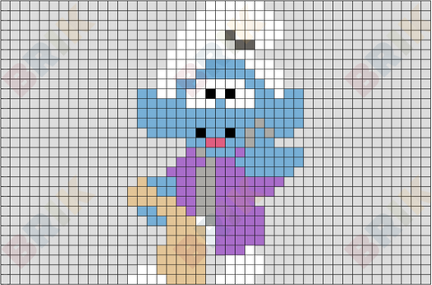 Narrator Smurf Pixel Art