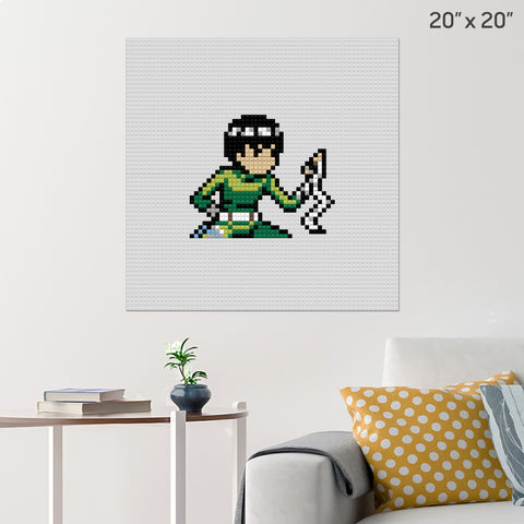 Naruto Rock Lee Brick Poster