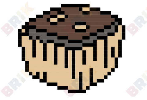 National Brownie  Day Pixel Art