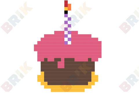 National Cake Day Pixel Art