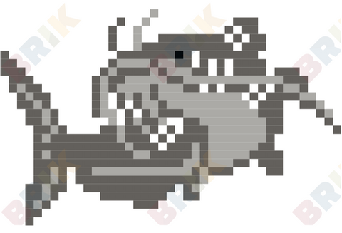 National Catfish Month Pixel Art