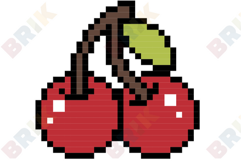 National Cherry Month Pixel Art