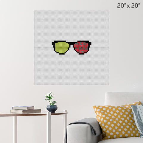 National Eye Exam Month Brick Poster