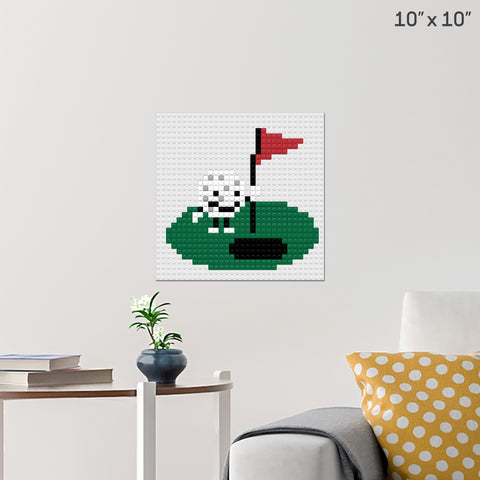 National Golf Month Brick Poster