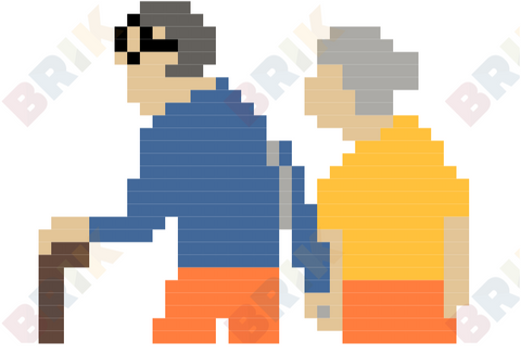 National Grandparents Day Pixel Art