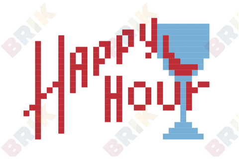National Happy Hour Day Pixel Art