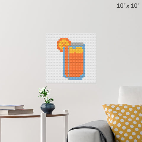 National Iced Tea Day Brick Poster