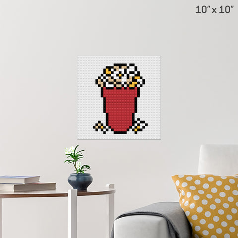 National Popcorn Day Brick Poster