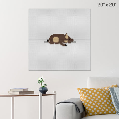 National Roast Suckling Pig Day Brick Poster