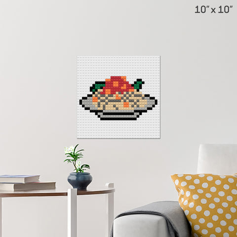 National Spaghetti Day Brick Poster