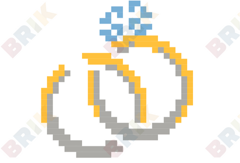 National Weddings Month Pixel Art