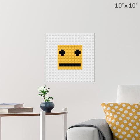 Neutral Face Brick Poster