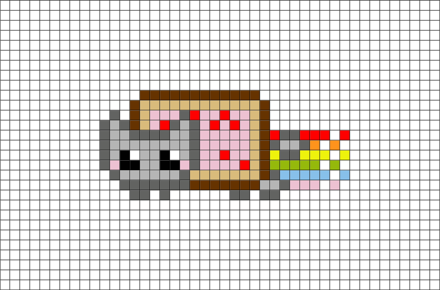 Nyan Cat Pixel Art – BRIK