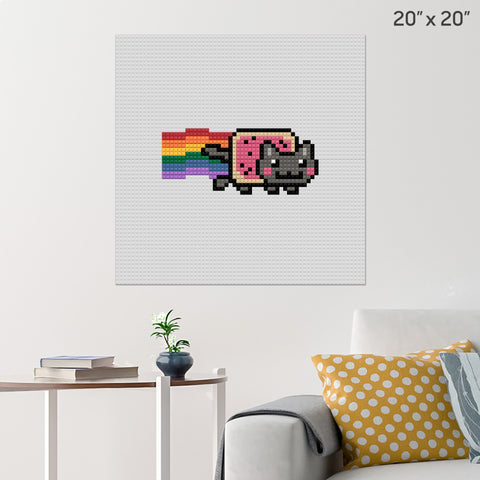 Nyan Cat Brick Poster