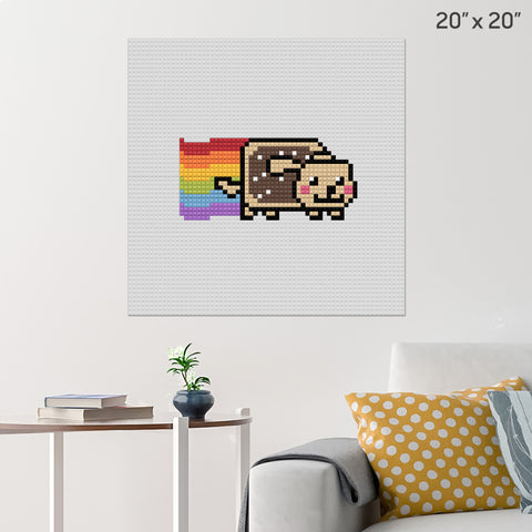 Nyan Dog Brick Poster