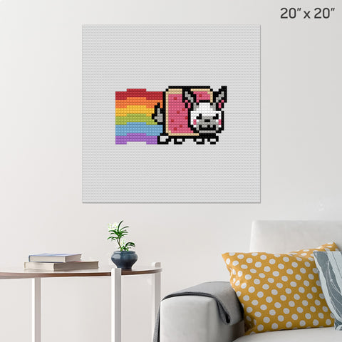 Nyan Rabbit Brick Poster
