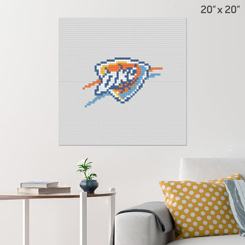 Oklahoma City Thunder Brick Poster