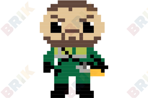 Oliver Queen Pixel Art