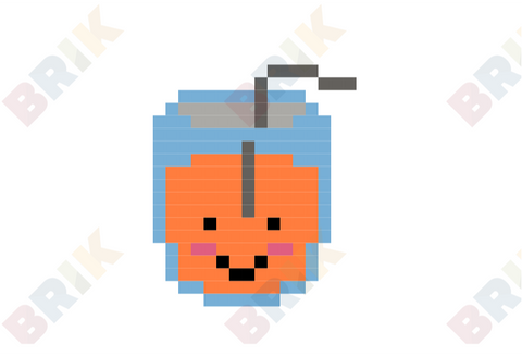 Orange Juice Pixel Art