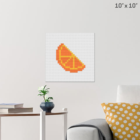 Orange Slice Brick Poster