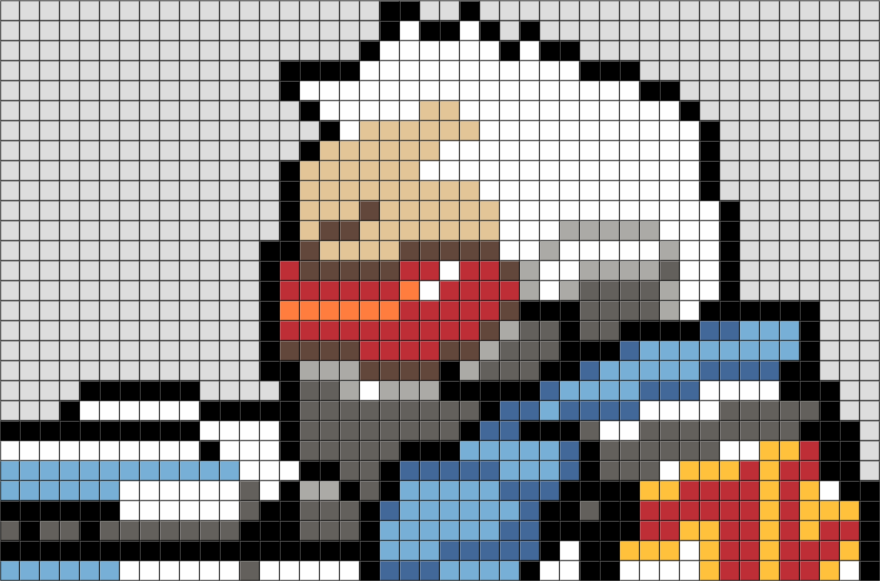 Overwatch Soldier 76 Pixel Art Brik
