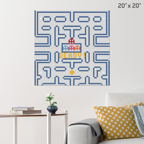 Pacman Level 1 Brick Poster
