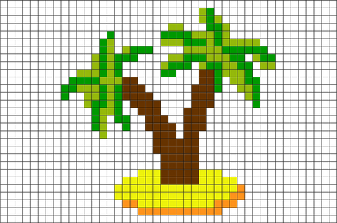 Palm Trees Pixel Art