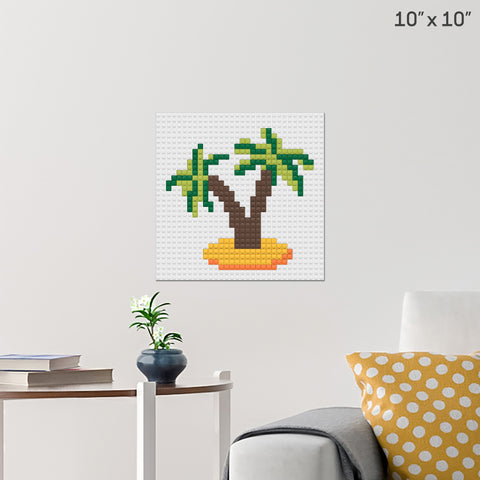 Palm Trees Brick Poster