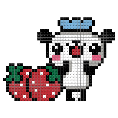 Panda and Strawberries