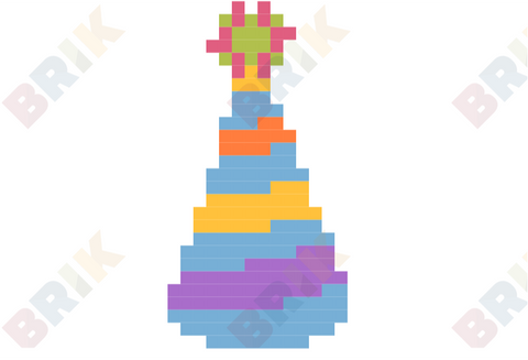 Party Hat Pixel Art